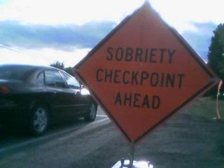 DUI checkpoint sign MIssion Kansas